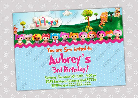 53 best Lalaloopsy Invitations images – Lalaloopsy Birthday Invitation