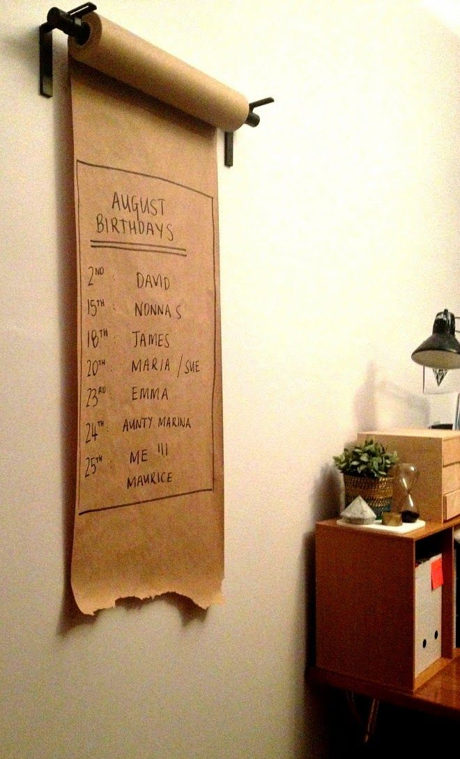 A Little Bit OCD: Ikea Hack // Kraft Paper Dispenser for under $15