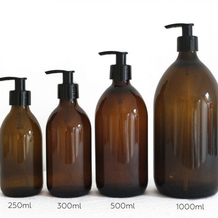 Amber Bottles With Pump Amber Glass Pump Bottles Glass Soap