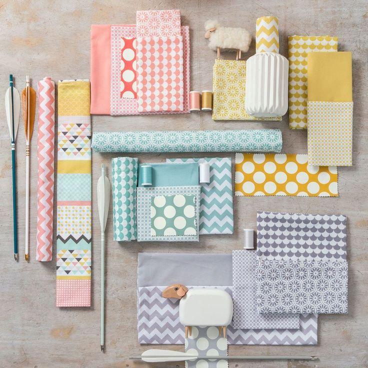 Tissu coton esprit patchwork Scandi - Nouveautés Maison - Nouveautés Mondial Tissus
