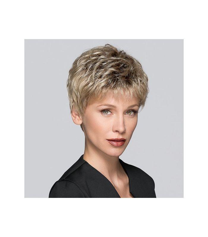 164,5 € - Perruque cancer Perucci TAB - coupe courte tendance - indispensable pour couvrir une chute de cheveux. Prothèse capillaire cheveux synthétique