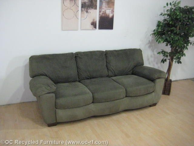 Green Microfiber Sofa By Ashley Furniture Thumbnail