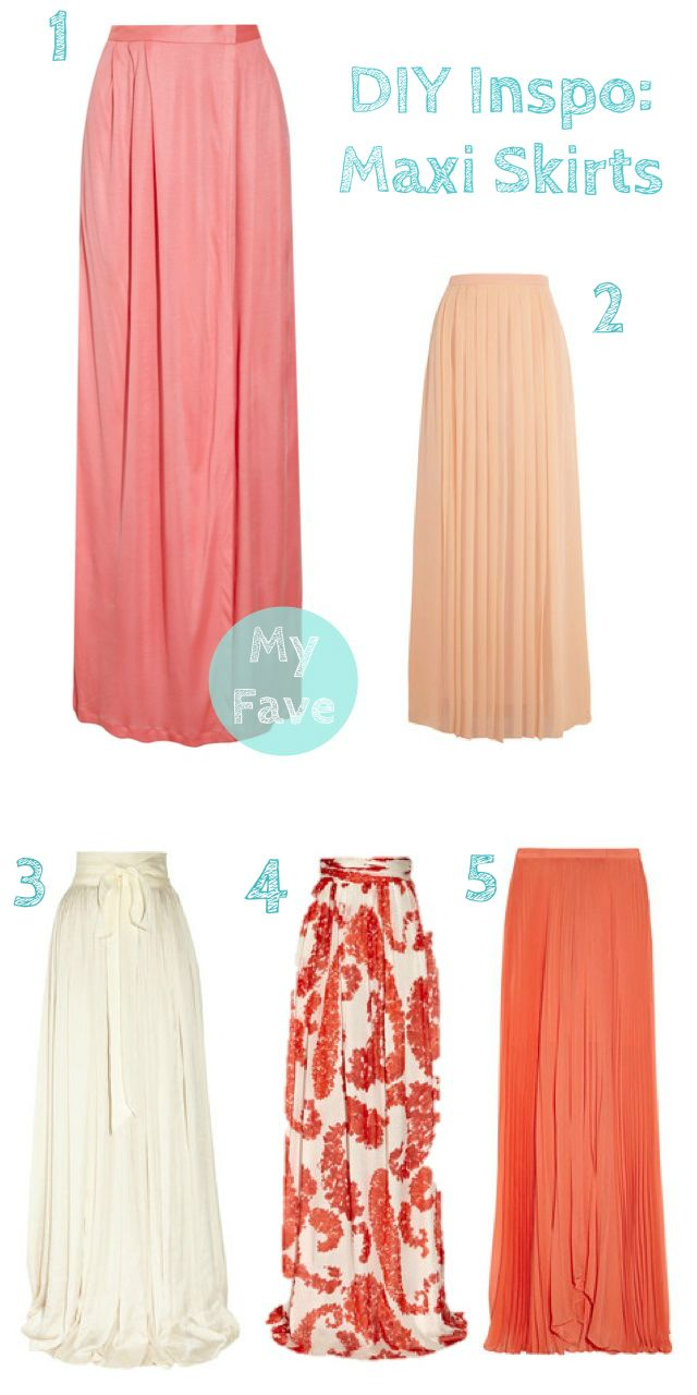 DIY Inspiration: Maxi Skirts. Definitely making a maxi skirt or dress this weekend!
