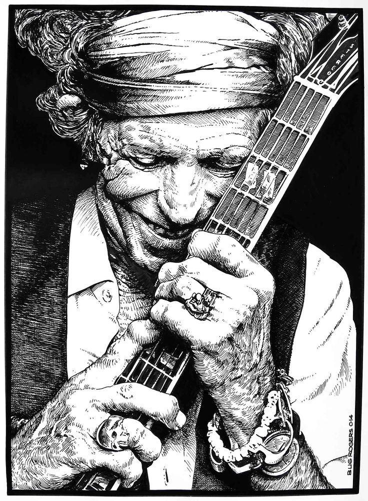 Keith Richards by EnricBug