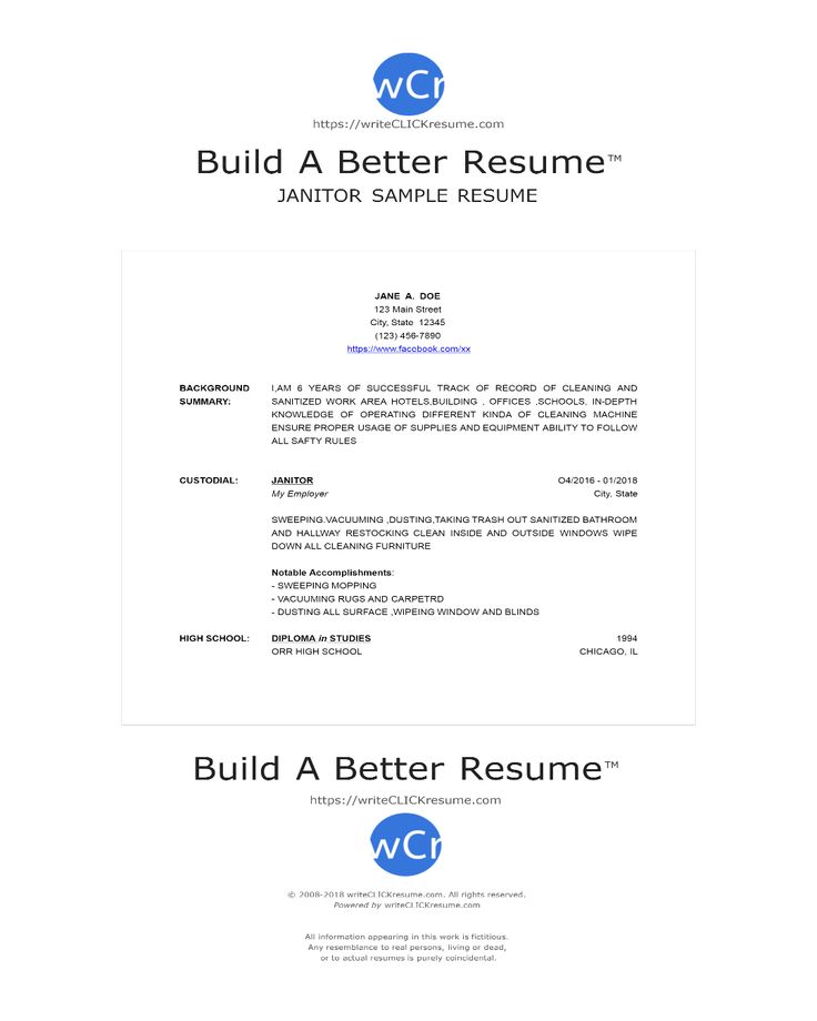 Sample Resume by writeCLICKresume Resume Samples Pinterest