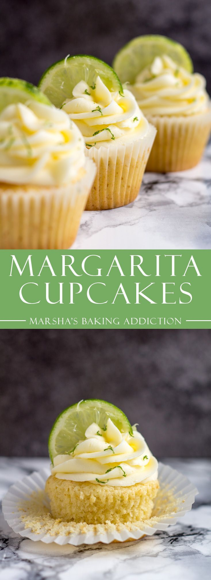 Margarita Cupcakes | marshasbakingaddiction.com @marshasbakeblog