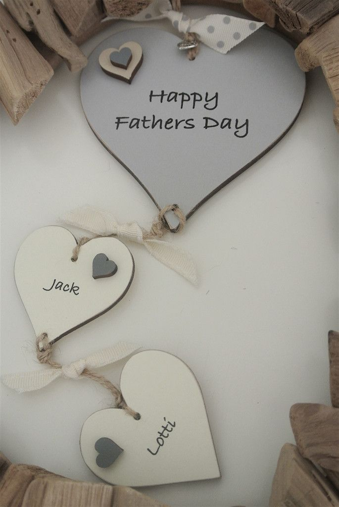Personalised Happy Fathers Day Chain Of Hearts