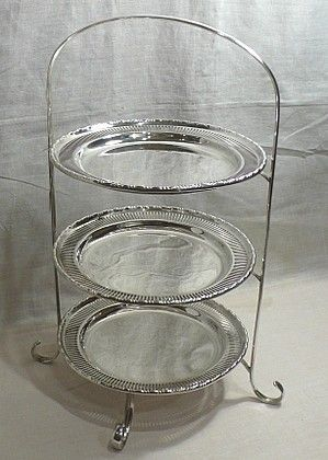 Edwardian era silver plated cake stand with 3 detachable plates. These very stylish serving stands are still used in many hotels and tea shops today. & 98 best afternoon tea images on Pinterest | Afternoon tea Cake ...