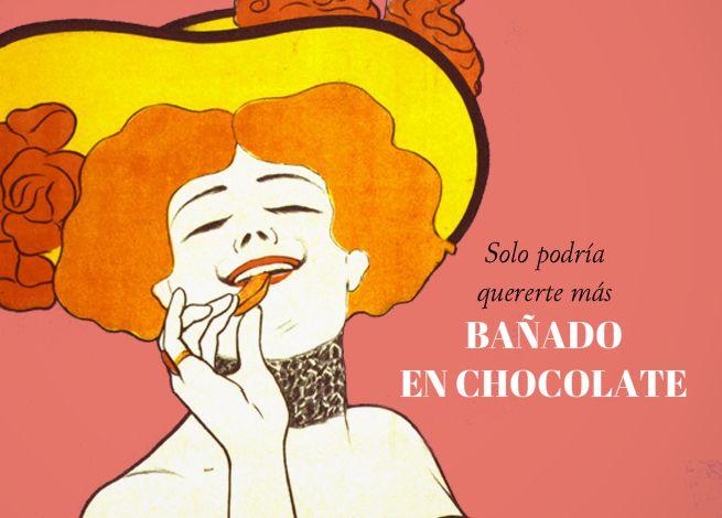 Felicitación San Valentín bañado en chocolate Valentine dipped in chocolate http://www.invitaenunclic.com/es/invitacion/categoria/san-valentin