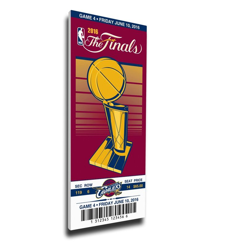 Cleveland Cavaliers Wall Art - 2016 NBA Finals Game 4 Canvas Commemorative Mega Ticket