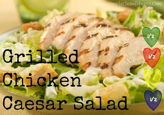 Grilled Chicken Caesar Salad - 21 Day Fix Recipes - Clean Eating Recipes Healthy Recipes - Dinner - Lunch  weight lossGrilled Chicken Caesar Salad - 21 Day Fix Recipes - Clean Eating Recipes Healthy Recipes - Dinner - Lunch  weight losssimplecleanfi...