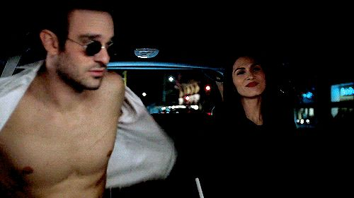Matt Murdock(Daredevil) from Marvel:Daredevil, even Elektra is looking at those abs..Matt is one fine guy! <3