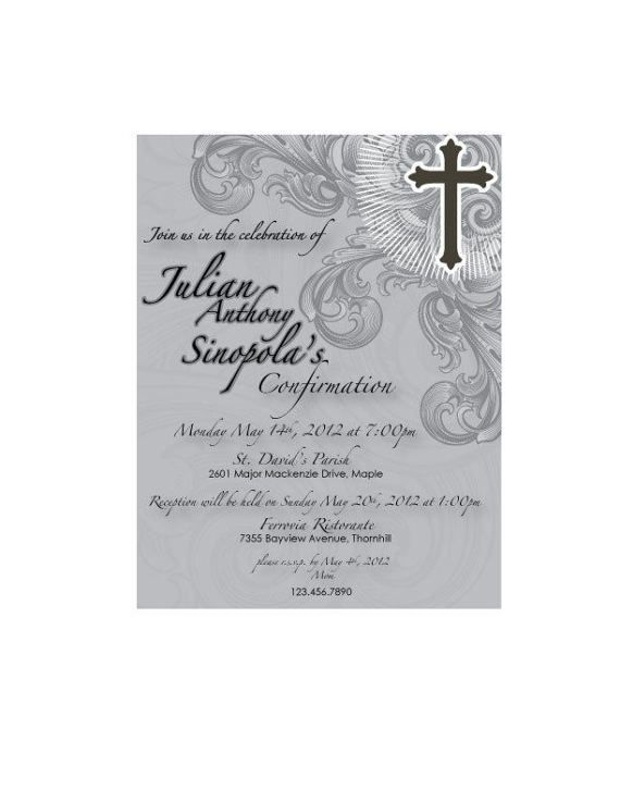 Confirmation Invitation by GraphxDesignz on Etsy