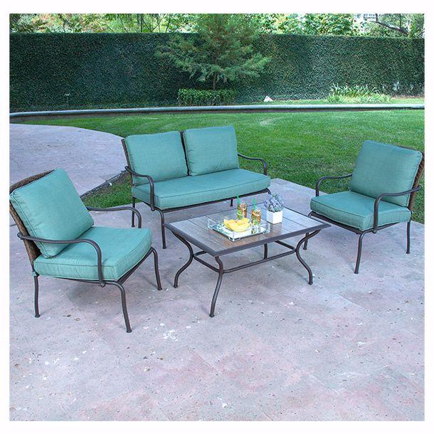 ideal para exterior sillones loveseat mesa de centro de