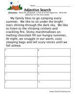 Adjective Worksheet - Have Fun Teaching