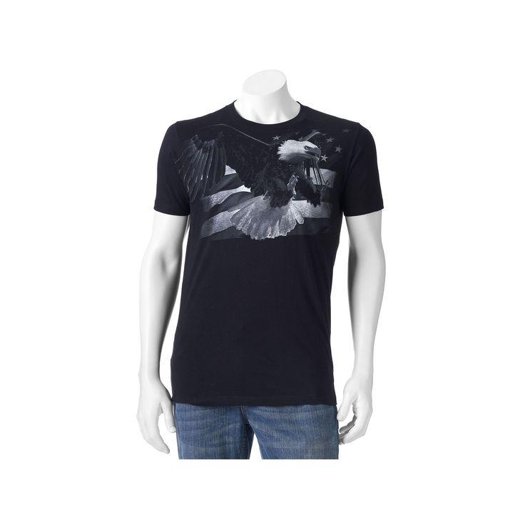 Men's Apt. 9® American Flag Eagle Tee, Size: Medium, Black