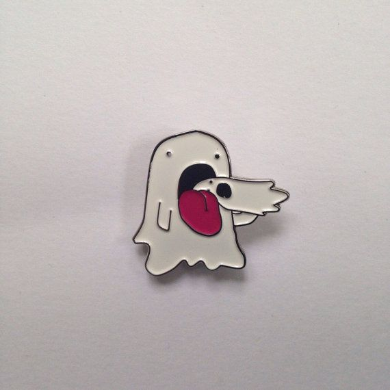 Eat Your Ghosts Lapel Pin by underthinkpress on Etsy