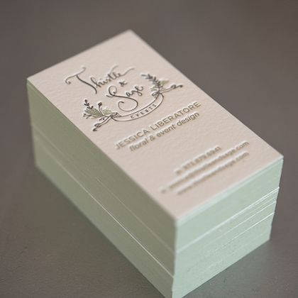68 best letterpress business cards images on pinterest embossed gorgeous 3 color letterpress business card with sage green edge paint colourmoves