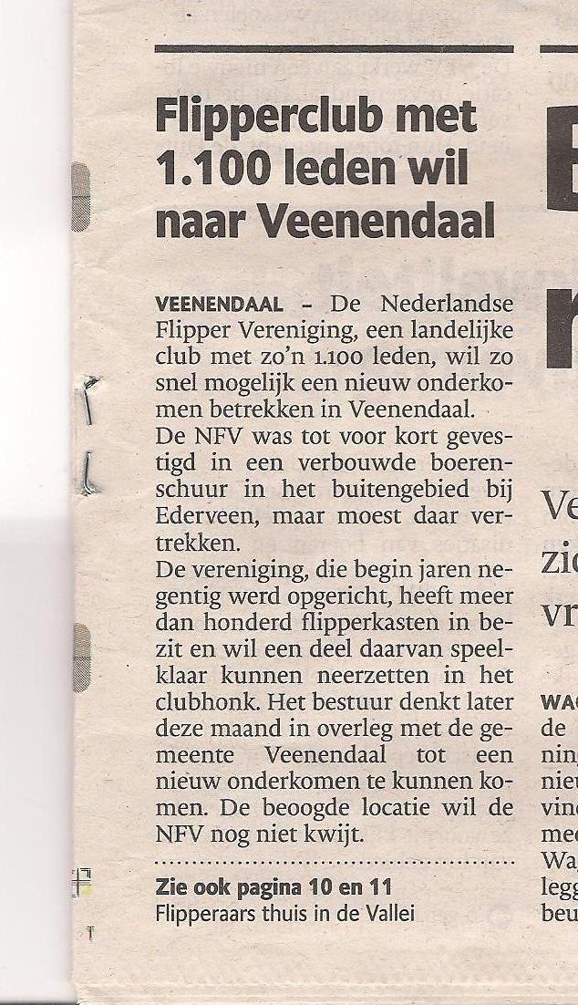 Flipperclub met 1100 leden wil naar Veenendaal.