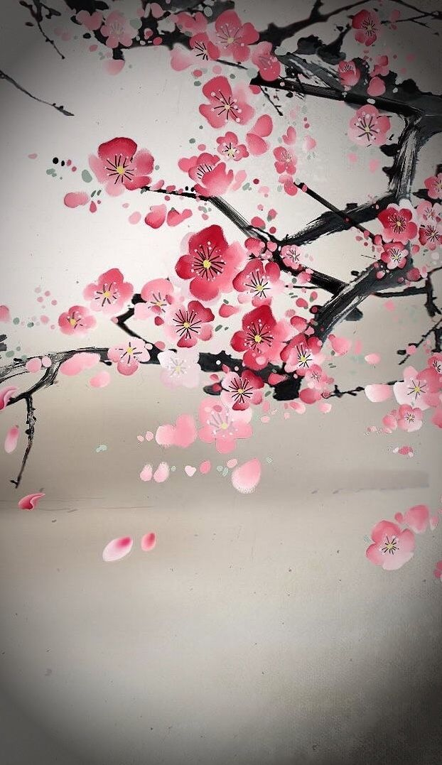 Pin By Alyshia Weiss On Asian Art Characters Cherry Blossom Art Cherry Blossom Painting Cherry Blossom Painting Acrylic