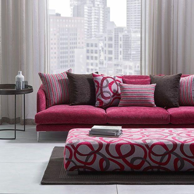 Warwick Fabrics: CIRCLES / fabric textiles / upholstery cushions