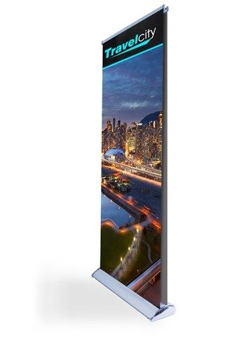 Exhibit in Trade Show with Premium Double sided banner stand