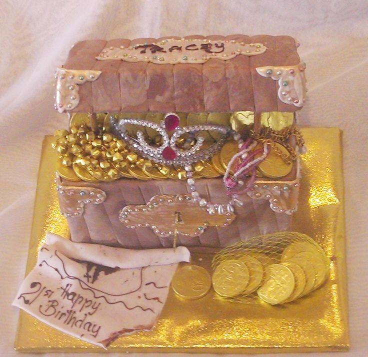 treasure /  pirate  box birthday cake http://www.elisabethscakes.com.au