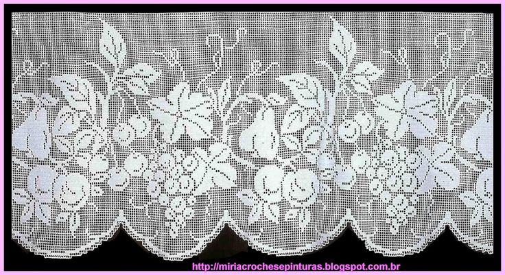 MIRIA ET PEINTURES: crochets RIDEAUX FILET DE CROCHET