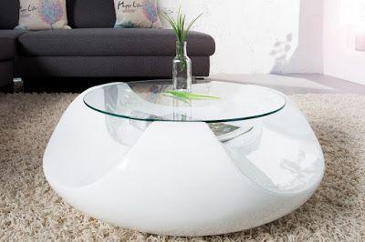 Luxusný nábytok REACTION: Konferenčný stolík FLOWER GLASS.