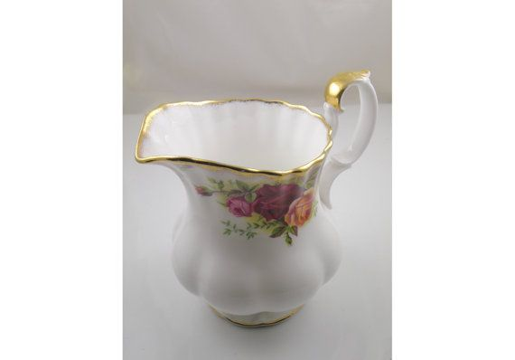 Royal Albert Old Country Roses cream jug. On sale 20% price reduction if you use the code FRIDAY2014  https://www.etsy.com/ca/listing/206979034/royal-albert-old-country-roses-cream-jug