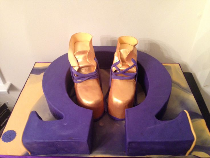 Omega Psi Phi Birthday Cake All Cake Symbol And Gold Boots