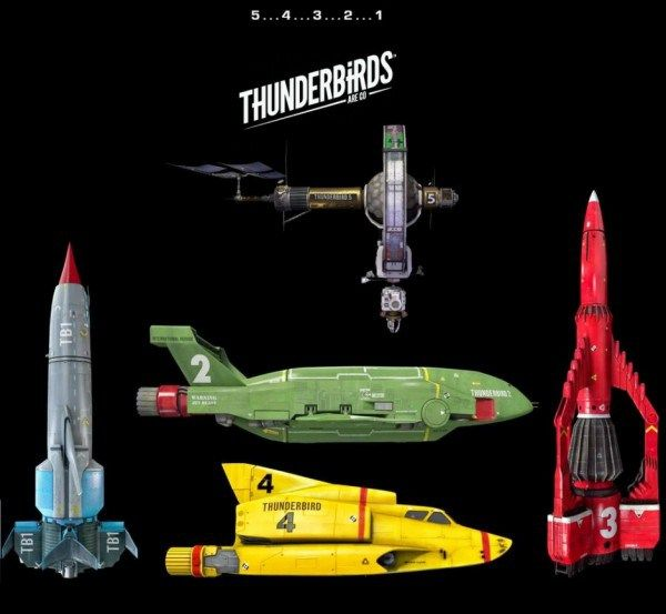 Thunderbirds vs Real Planes, see equivalent aircraft for Thunderbird 1, Thunderbird 2, Thunderbird 3, Thunderbird 5