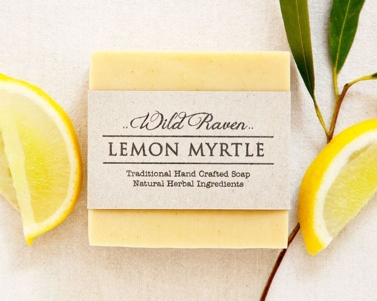 Lemon Myrtle Soap // Handmade with All Natural Herbal Ingredients // Traditional Cold Process Soap // Vegan & Palm Oil Free by WildRavenSoap on Etsy https://www.etsy.com/listing/216326051/lemon-myrtle-soap-handmade-with-all