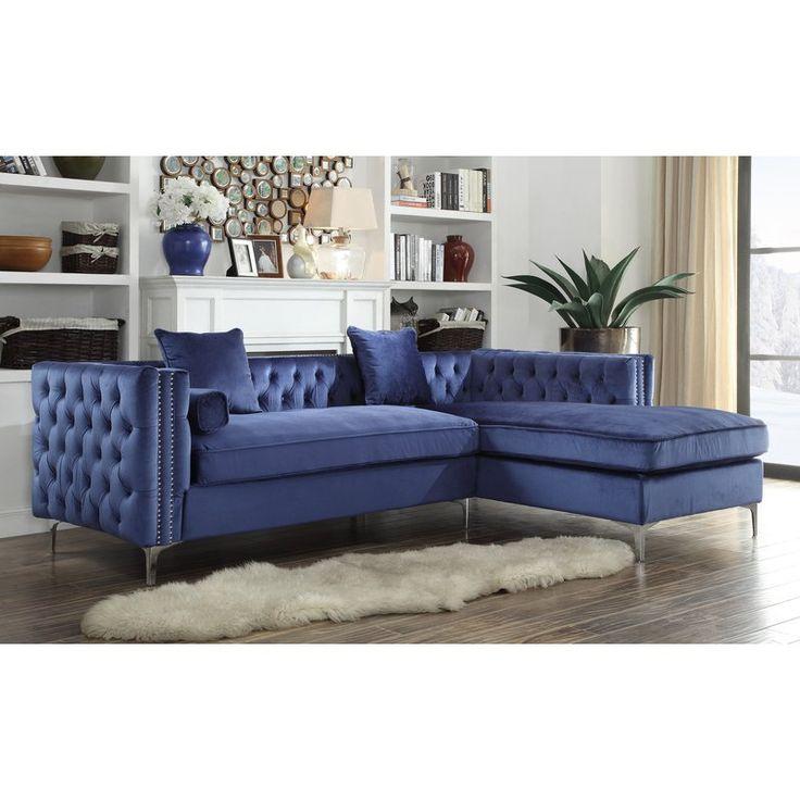 Best 25 silver velvet sofa ideas only on pinterest grey for Button tufted chaise settee velvet canary