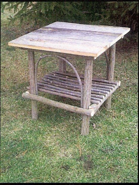 Amish Handcrafted Rustic Willow Outdoor Chair
