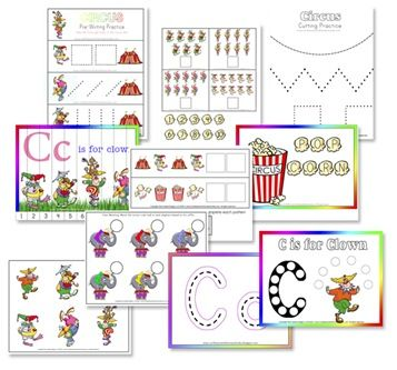 Educational and for store Clown   japan is C Clowns  Printable Pack Preschool online camera Printables Freebie  Preschool
