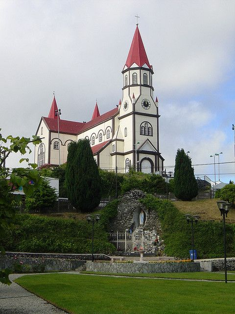 The Church of the Sacred Heart of Jesus located in the city of Puerto Varas, in the region of Los Lagos, Chile. The Parish was built between 1915 and 1918 in Romanesque and Baroque style. The construction used mostly native woods including ulmo, oak, mañío and laurel. The exterior walls are coated by iron plates and the roof by larch tiles. Its design is based on the churches of Baden-Wuerttemberg, Germany. It was declared a National Monument of Chile in 1992.