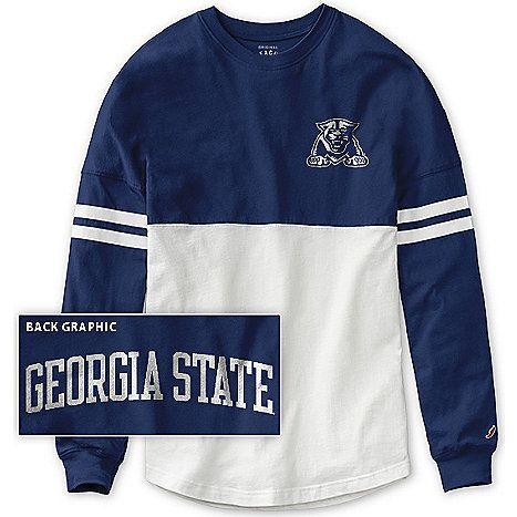 Product: Georgia State University Panthers Women's Ra Ra Long Sleeve T-Shirt, Blue size S