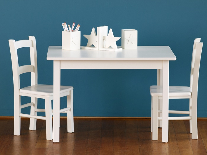 Timber Leg Table (shown with Solid Seat Ladderback Chairs)|