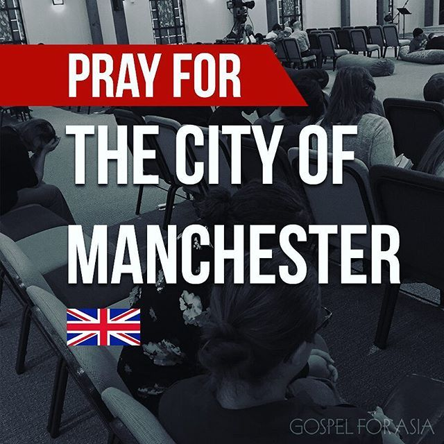 Continue praying for those affected by the May 22 terrorist attack in Manchester, UK. 19 people were killed and 59 others injured. Pray for families who've lost loved ones, pray for those who are injured, pray against the spirit of fear, and pray for wisdom for those in authority. #prayformanchester #