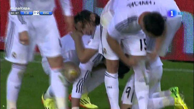 Gareth Bale Goal - Commentator has an Orgasm! FC Barcelona vs Real Madri...