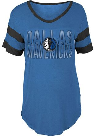 Dallas Mavericks Womens Blue Training Camp T-Shirt