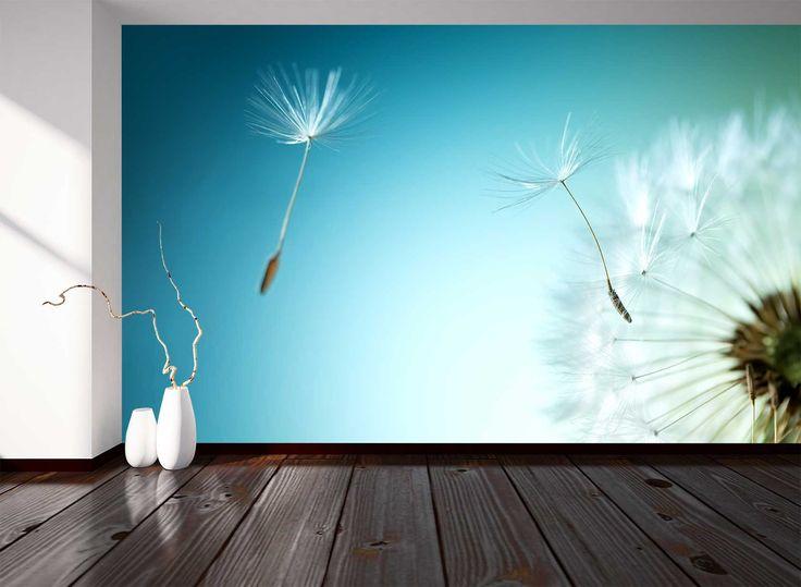 Dit fotobehang van een paardenbloem geeft een frisse uitstraling, zo kom je helemaal tot rust. Voor maar 14,95 per m2 te bestellen bij ons.