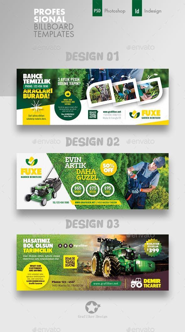 Garden Landspace Cover Bundle Templates Banner Ads Design Banner Design Inspiration Facebook Cover Design
