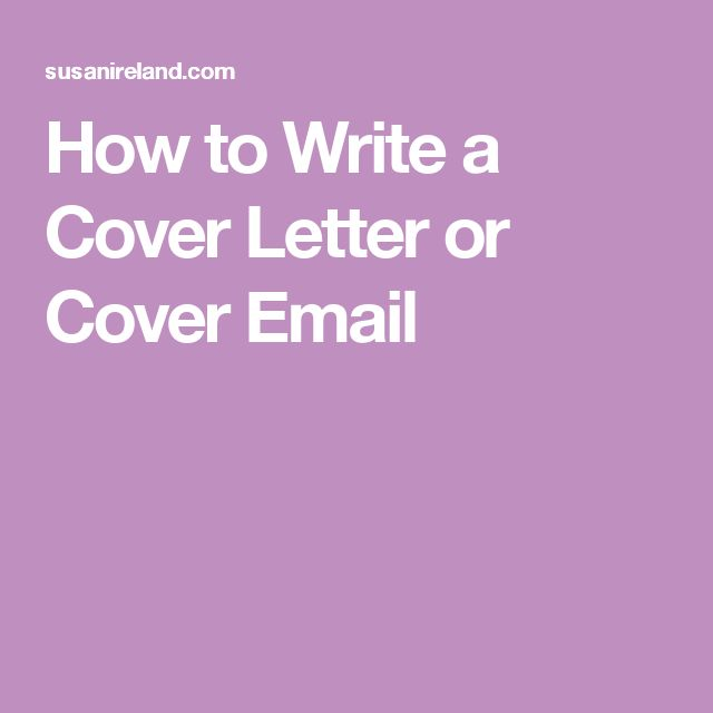 The 25+ best Writing a cover letter ideas on Pinterest Cover - guide to writing a cover letter