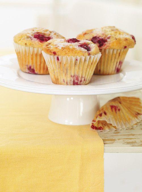Muffins aux framboises et au kéfir