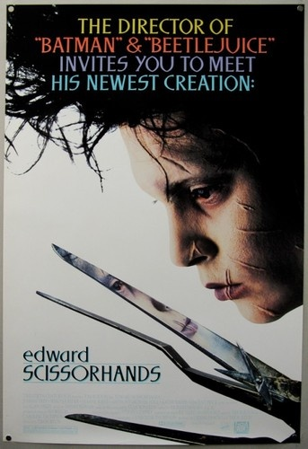 Edward Scissorhands 1990 Original Movie Poster Unused Johnny Depp | eBay