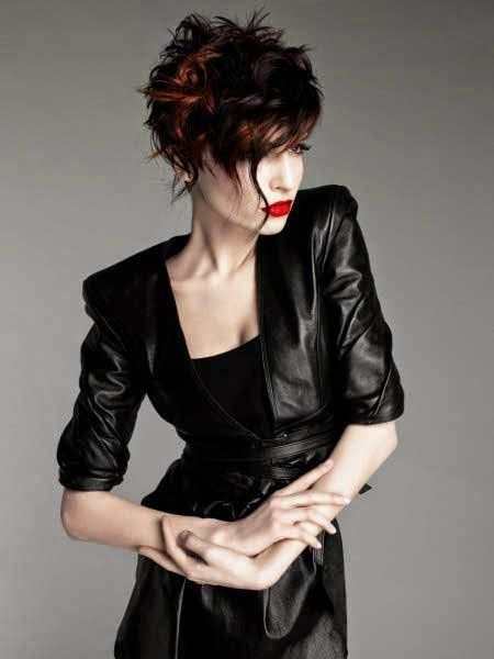 Messy Short Hairstyles for Womens for 2014