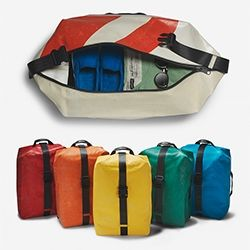Freitag F512 Voyager! A new 33L travel rucksack - made from their signature truck tarps.