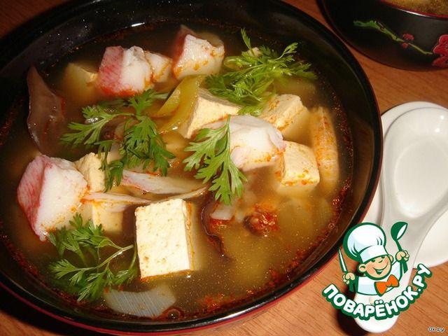 Мисо-суп с тофу и креветками ингредиенты